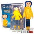 Eladó 18cm-es Coraline baba / figura esőkabátban - NECA Coraline és a titkos ajtó baba szövet ruhával, ext
