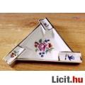 Háromszög alakú, virágos mintás Herendi hamuzó tálka, nagyon ritka egy