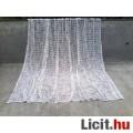*Barna-ekrü készre varrt pamut függöny 245x345 cm