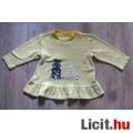 Eladó tündéri fodros hímzett lányka pulóver,méret: 98