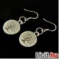 """Eladó """"Pénzt termő fa"""" tibeti ezüst fülbevaló, 925 akasztóval"""