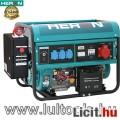 Eladó benzinm. áramfejlesztő + HAV-3 indító automatika, max 6000 VA, háromfá