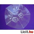 *WALTHER GLAS domború mintás üveg kínáló tál