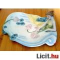 Eladó Ülő nőalakos porcelán tálca, a szecesszió jegyében készült ERPHILA por