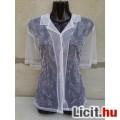 *H&M Fehér hímzett tüll blúz XL-es