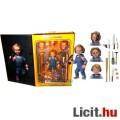 Eladó 10 cm-es Chucky Ultimate NECA figura - Gyerekjáték Chucky baba cserélhető fejekkel, extra-mozgatható