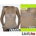 Mango pasztell rózsaszín - ezüst csillámos egyedi top
