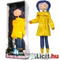 Eladó 17cm-es Coraline baba / figura - hajlítható testű NECA Coraline és a titkos ajtó baba szövet ruhával