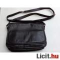 Eladó *Fekete három terű bőr váll táska