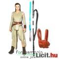 Eladó 10cm-es Star Wars figura - Jedi Rey figura fénykarddal, pálcával és ráadható hátizsákkal - 5 ponton