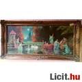Eladó Vízi nimfák között álmodozó leány, romantikus jelenet, keretezett olaj