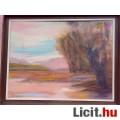 Eladó Fűzfa a tóparton, Szabó János kortárs festőművész zsűrizett festménye,
