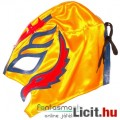 Eladó Pankrátor maszk - Rey Mysterio sárga-kék-piros felvehető mexikói Lucha Libre Pankráció maszk