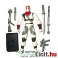 Eladó GI Joe figura - Storm Shadow V14 fehér ninja figura, kétféle szamurájkarddal, felszereléssel és talp
