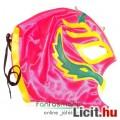 felvehető Pankráció / Pankrátor Maszk - pink Rey Mysterio maszk kék-fehér díszítéssel - szövetből, f