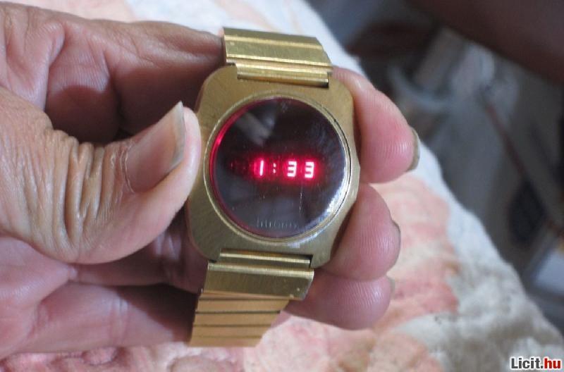 ... Vintage Litronix férfi működő arany színű piros LED óra a 70-es évek ... 915385dec5