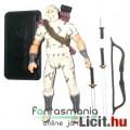 Eladó GI Joe figura - 25th Storm Shadow v22 100% komplett fehér Cobra ninja katona figura szürkés camo