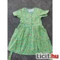 Eladó *Zöld virág mintás rövid ujjú nyári ruha 122-128-as