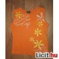 Eladó  narancs virágos Mills  ujjatlan felső,méret:134