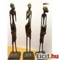 Afrikai bennszülött bronz szoborcsoport, gyűjteménybe való ritkaság.