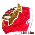 felvehető Pankráció / Pankrátor Maszk - piros Sin Cara maszk - szövetből, fűzős rögzítéssel