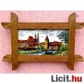 Eladó Kerámia táblára festett falikép páros, Nürnberg látképeivel, rusztikus