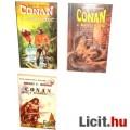Eladó Használt könyv - 3db Conan a Barbár, Kalandor, Bosszúálló - Robert E Howard régi fantasy regény
