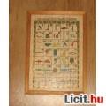 Eladó British Museum-ban vásárolt egyiptomi hieroglifák pausz papíron