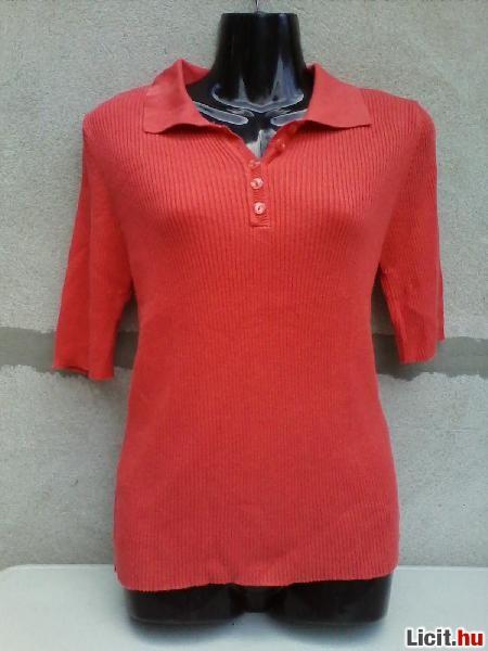 Licit.hu   Korall színű rövid ujjú pulóver 40-es Az ingyenes aukciós ... 278b0ab72e