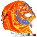 Eladó felvehető Pankráció / Pankrátor Maszk - narancs Rey Mysterio maszk ezüst-kék díszítéssel - szövetből