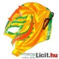 Pankrátor maszk - Rey Mysterio sárga-narancs-zöld felvehető mexikói Lucha Libre Pankráció maszk