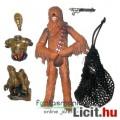 Eladó Star Wars figura - Chewbacca világítós C-3PO darabokkal és zsákkal - Cloud City Escape jelenet, csom