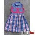 Eladó *Kockás szoknyás kislány farmer ruha kb.140/146