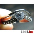 Eladó Álomszép elegáns fehér zafír köves aranyozott gyűrű - Vadonatúj!