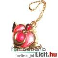 Sailor Moon / Holdtündér medál - 3cmes Szárnyas Szív amulett fügő fém Anime ékszer kulcstartó láncca