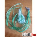 Álomszép egyedi muránói üveg zöld virágos medál nyaklánccal
