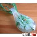 Eladó Álomszép egyedi muránói üveg zöld virágos medál nyaklánccal