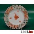 Eladó Herendi áttört szélű orange Apponyi fali tányér