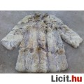 *LUX térdig érő elegáns bunda/kabát kb 40/42