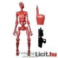 Eladó Star Wars figura - Battle / Harci Droid figura betolható fejjel, bordó színben, hátizsákkal és fegyv