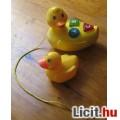 Eladó húzható cuki műanyag kacsa betűkkel + ajándék kis műanyag kacsa