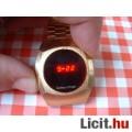 Eladó Régi Compu Chron férfi működő arany színű piros LED óra a 70-es évek