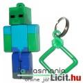 Eladó 5-6cmes Minecraft Zombi / Zombie figura - mozgatható minifigura + rárakható kulcstartó, csom. nélkül