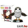 10cmes Funko POP figura Star Wars Porg nagyfejű cuki madár-állatka karikatúra figura nyitott szárnya
