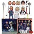 Eladó 10 cm-es Bride of Chucky Ultimate NECA figura szett - Tiffany és Chucky baba cserélhető fejekkel, ex
