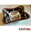 Eladó Nagy méretű füles gyümölcstál, Kínai porcelán, gyönyörű madaras mintáv