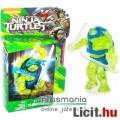 Tini Nindzsa / Ninja Teknőcök 4-5cmes Leonardo / Leo figura áttetsző testtel - Mega Bloks mozgatható