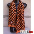 Eladó *Narancssárga-fekete boci mintás sál 136x29 cm