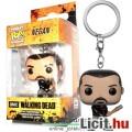 Eladó 3cmes mini Funko Pop figura kulcstartó - Walking Dead Negan Lucille baseball ütővel - nagyfejű karik