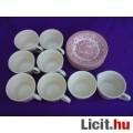 *Bordó színű porcelán kávéskészlet 14 db